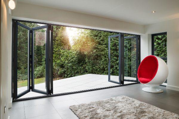Beautiful Aluminium Bi-folding Doors Peterborough