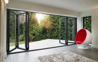 Beautiful Aluminium Bi-folding Doors Peterborough