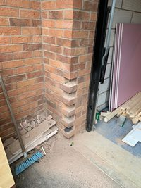 toothing wall garage conversion Peterborough